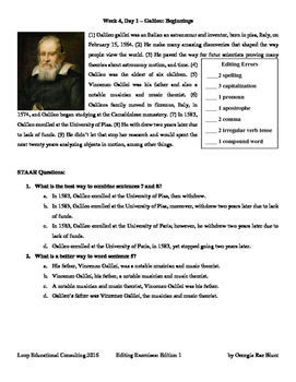 Editing with SSS - Week 4 - Galileo Galilei