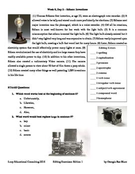 Editing with SSS - Week 9 - Thomas Edison