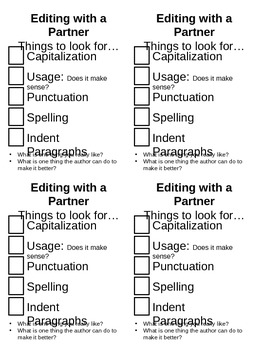 Editing with a Partner