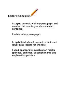 Editor's Check List