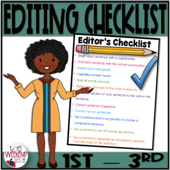 Editor's Checklist (1st-3rd) A Writing Checklist