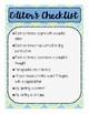 Editor's Checklist Poster
