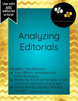Editorial Argument Analysis