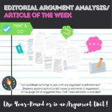 Editorial Argument Analysis/ Article of the Week