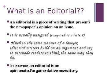 Editorials Power Point
