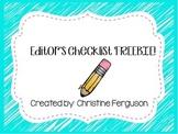 Editor's Checklist FREEBIE