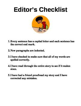 Editor's Checklist- Student and Teacher set