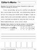 Editor's Marks Handout & Worksheet