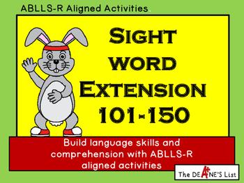 Sight Word Extension Bundle 101-152