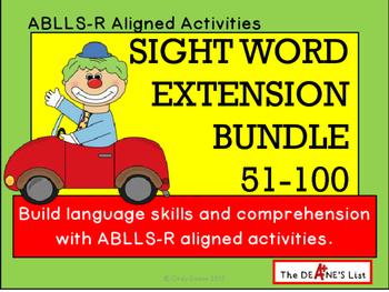 Sight Word Extension Bundle 51-100