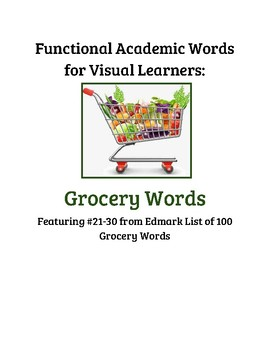 Edmark Functional Academic Grocery Words 21-30 Sort Pictures to Words