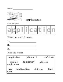 Edmark Functional Vocabulary Job Words