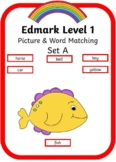 Edmark Level 1 - Set A Picture and Word match book