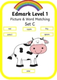 Edmark Level 1 - Set C Picture and Word match book
