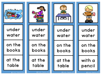 Sight Word Phrases Clip Strips- Level 1