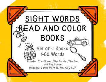 Sight Word Read and Color Books:(4 books included)