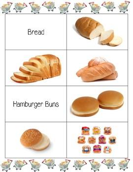 Edmark Reading Program Functional Words Series - Grocery Words 1-10