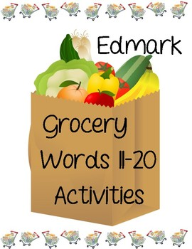 Edmark Reading Program Functional Words Series - Grocery Words 11-20