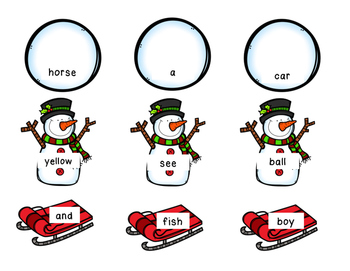 Sight Word Sensory Bin, Winter Theme