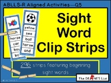 Sight Word Clip Strips- Level 1