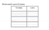 """Edmark circle activities for words 1-8 with """"-s"""""""