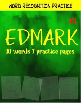 FREE Edmark reading sight words practice 1st 10 words special education