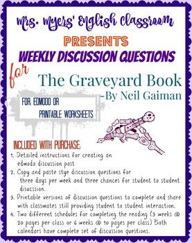 Edmodo and Paper Interactive Discussion questions for The Graveyard Book