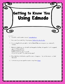 Edmodo in the Elementary Classroom-Getting to Know You