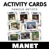 Edouard Manet - Famous Artist Activity Cards - Art Unit -