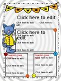 Edtiable Cat Newsletter