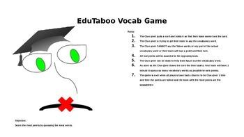 EduTaboo Vocabulary Game
