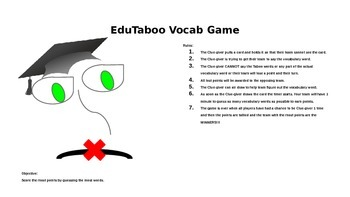 EduTaboo Vocabulary Game