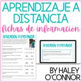Educación A Distancia {SPANISH Remote Learning Questionnai