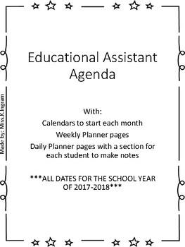 Educatinal Assistant Agenda (School year 2017-2018)