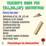 Educating ELL, ESL Students: PD Presentation