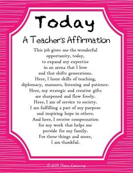 Education Affirmations Bundle (School-wide Professional Development)