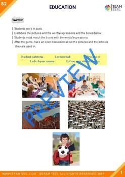 Education B2 Upper-Intermediate Lesson Plan For ESL