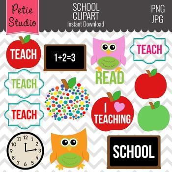 Education Clipart, Apple Clipart, Teacher Clipart, School Clipart - Objects101