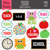 Education Clipart, Apple Clipart, Teacher Clipart, School