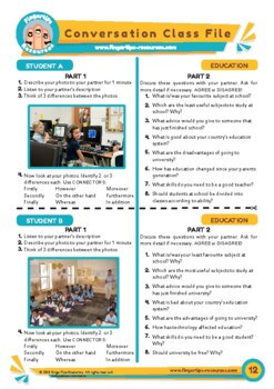 Education - ESL Speaking Activity
