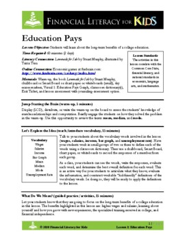 Lesson 1: Education Pays