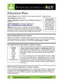 Lesson 1: Education Pays