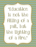 Education Quote Chevron Print