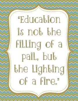 Education Quote Chevron Print