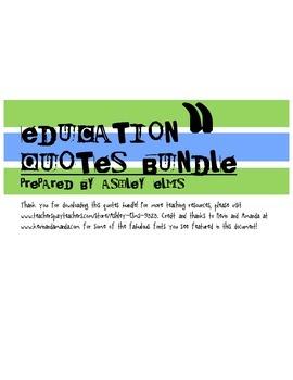 Education Quotes Bundle