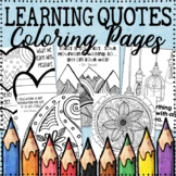 Growth Mindset Coloring Pages | Learning Quotes | 20 Fun,