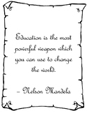 Education Quotes Parchment Border (suitable for medieval or wizarding theme)
