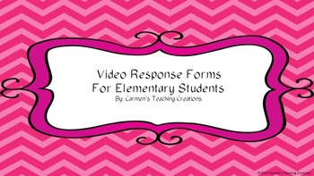 Education Video Response Sheets