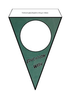 Education Week Bunting - pennant style