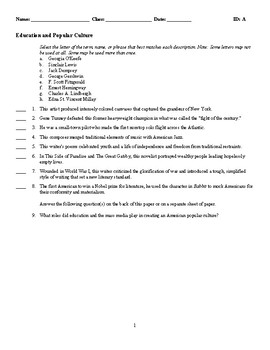 Education and Popular Culture - (Quiz or Study Guide)